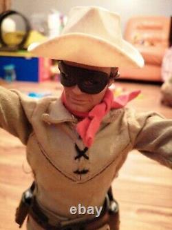 Marx Toys Lone Ranger Action Figure Vintage 1970s VGC Boxed Classic TV FREEPOST