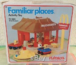 McDonalds Playskool 1974 COMPLETE 430 with box Familiar Places Play set vintage