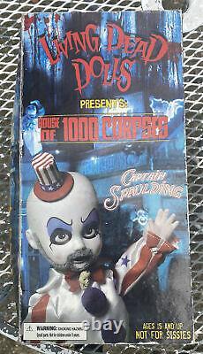 Mezco Captain Spaulding house of 1000 Corpses living dead dolls NewithDamaged Box