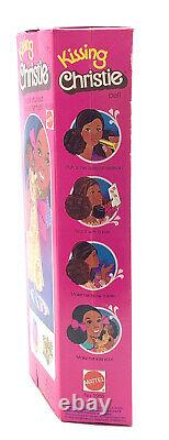 NIB 1976 Mattel 2955 Kissing Christie Barbie in box doll kisses African American