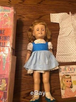 NICE! Vintage Mattel Chatty Cathy Doll Blue dress Original 1959 First Box & Book