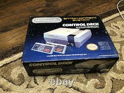 NINTENDO NES-001 Control Deck System In Box Original Vintage Tested Working