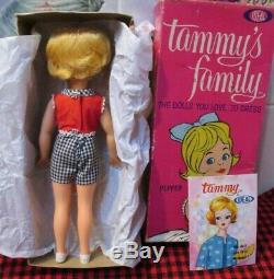 New In Box1963 Ideal. Tammy Family#1pepper Dollgorgeous Blondeplaysuitmint