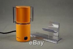 Orange BRAUN HL70 Desk FAN + BOX Reinhold Weiss Germany Modernist Vintage 70s
