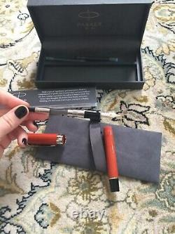 Parker Duofold Orange Burst Pen Big Vintage Fountain Pen New With Box