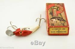 Pecos River Uline Spinno Minno Antique Fishing Lure Red & White Correct Box