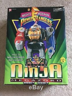 Power Rangers Deluxe Ninja Megazord CIB Complete Box Vintage 1995 Bandai