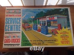RARE! IDEAL 1960's MOTORIFIC Service Centre in Box! Vintage Station Garage Cars