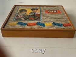 RARE VINTAGE 1960s LEGO SYSTEM 810 TOWN PLAN SET IN WOODEN BOX