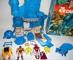RARE Vintage 1983 Galoob Blackstar Ice castle FILMATION 95% inA+ BOX With5 FIGURES