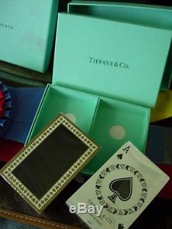 RARE Vintage TIFFANY Boxed Set Playing Game Cards Poker Bridge NEW IN PLASTIC