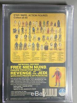 REVENGE JEDI PROOF CARD AFA 80 Star Wars Vintage KENNER LANDO CALRISSIAN ROTJ