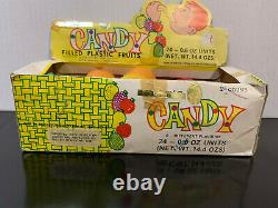 Rare Vintage CE-DE'S Candy Filled Plastic Fruits with display box Free Shipping