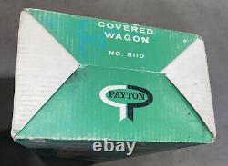 Rare Vintage Payton Toys Plastic Covered Wagon Plastic Playset withBox Access