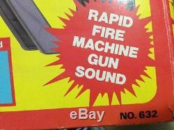 Rare vtg M-60 Rambo Machine Gun Rifle Toy Arco with Box Stallone game target set