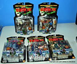 Resident Evil ToyBiz Vintage Figures 1998 Lot of 5 Sealed New In Box Great Shape