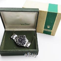 Rolex Red Submariner Steel Black Watch 1680 Year 1971 Original Box Vintage