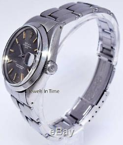 Rolex Vintage Mens Date 1500 Stainless Steel Watch & Box