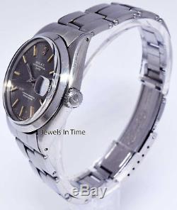 Rolex Vintage Mens Date 1500 Stainless Steel Watch & Box