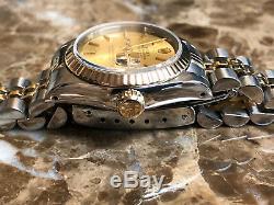 Rolex lady Datejust 18k Gold / Steel with Jubilee Bracelet 69173 w Rolex Box