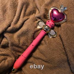 SAILOR MOON S Spiral Heart Moon Stick Wand Rod, Bandai 1994 no Box Vintage F/S