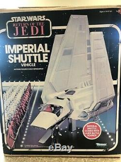 STAR WARS vintage ROTJ Imperial Shuttle COMPLETE withBOX SHIPS WORLDWIDE