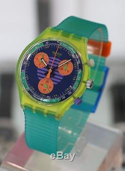 SWATCH - Neo Wave Chronograph Ref. SCJ100 NEW with Box & Papers