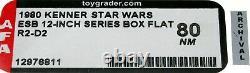 Star Wars 1980 Vintage Kenner ESB 12 Inch R2-D2 Doll Box Flat AFA 80