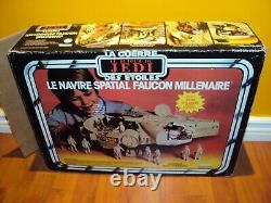 Star Wars Rotj Vintage Millennium Falcon Canadian Kenner Canada Complete & Box