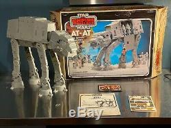 Star Wars Vintage AT-AT Walker WITH ORIGINAL BOX UNUSED STICKERS 1981