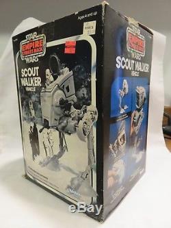Star Wars Vintage Empire Strikes Back Scout Walker Vehicle+Box+Instructions 1982