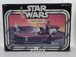 Star Wars Vintage Kenner LANDSPEEDER 1978 with Original Box Inserts Stickers