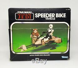 Star Wars Vintage SPEEDER BIKE Vehicle Complete with Box +Inserts ROTJ 1983 Kenner