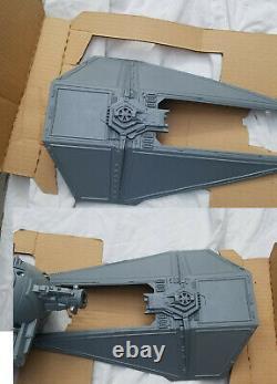 Star Wars Vintage Tie Interceptor Vehicle Original Box Insert Unused 1983 Works