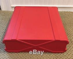 Super Rare VTG 1970 NOS Olivetti Valentine In Red Included Original Box Packing