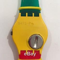Swatch Watch Quartz McGregor 1985 GJ100 New Battery In Box Wrist Vintage Rare