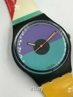 Swatch Watch St. Catherine Point GB121 Very rare 1987 Working New Battery