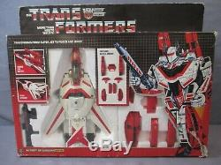 Transformers G1 JETFIRE Complete UNBROKEN with Box VINTAGE 1985