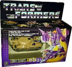 Transformers Triple Changer Blitzwing Vintage G1 1985 Near MISB AFA IT