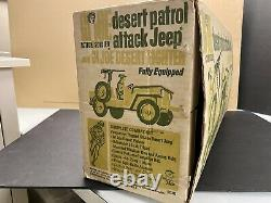 VINTAGE 1967 HASBRO GI JOE DESERT PATROL ATTACK JEEP COMPLETE in BOX RAT PATROL