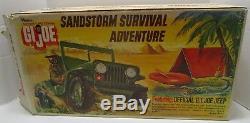 VINTAGE 1974 HASBRO GI JOE SANDSTORM SURVIVAL ADVENTURE SET WithBOX WOW