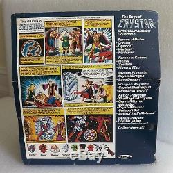VINTAGE 1982 REMCO CRYSTAR CRYSTAL DRAGON withWARRIOR WEAPONS BOX & UNBROKEN WINGS