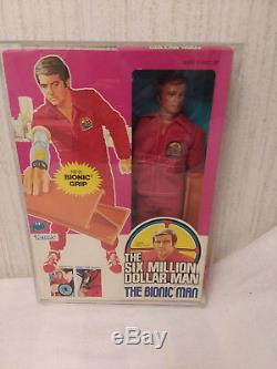 VINTAGE 2nd/ED 1975 SIX MILLION DOLLAR MAN ACTION FIGURE in Box with Case KENNER