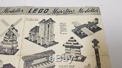 VINTAGE 50´s 40's LEGO System MURSTEN leaflet 187 Mursten rare alt ABB Bricks
