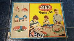 VINTAGE 50´s 60's LEGO System I lek 700/3a 187 withBOX DENMARK Mursten rare 700