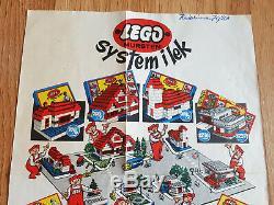 VINTAGE 50´s 60's LEGO System I lek leaflet 187 DENMARK Mursten rare 700 alt