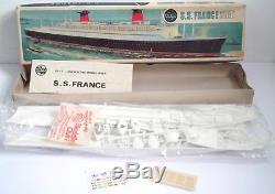 VINTAGE AIRFIX S. S FRANCE SCALE 1600 RARE Original Series 6 F602s BOXED Plastic