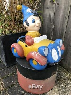 VINTAGE CHILDRENS CHARITY PLASTIC COIN COLLECTION MONEY BOX Noddy And Car