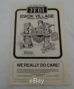 VINTAGE KENNER STAR WARS 1983 EWOK VILLAGE ACTION PLAYSET withBOX 100% VERY NICE