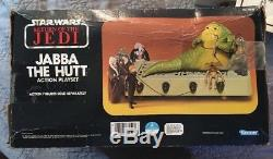 VINTAGE STAR WARS ROTJ 1983 JABBA THE HUTT ACTION PLAYSET KENNER #70490 In Box